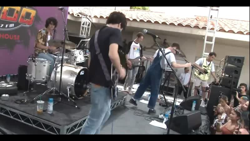Wallows perfoming live at the KROQ Coachella House
