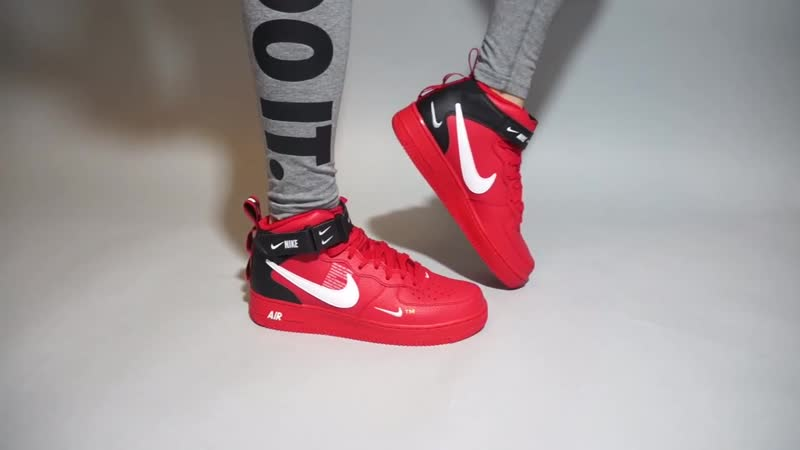 Nike Air Force 1 Mid 07 LV8 University Red White