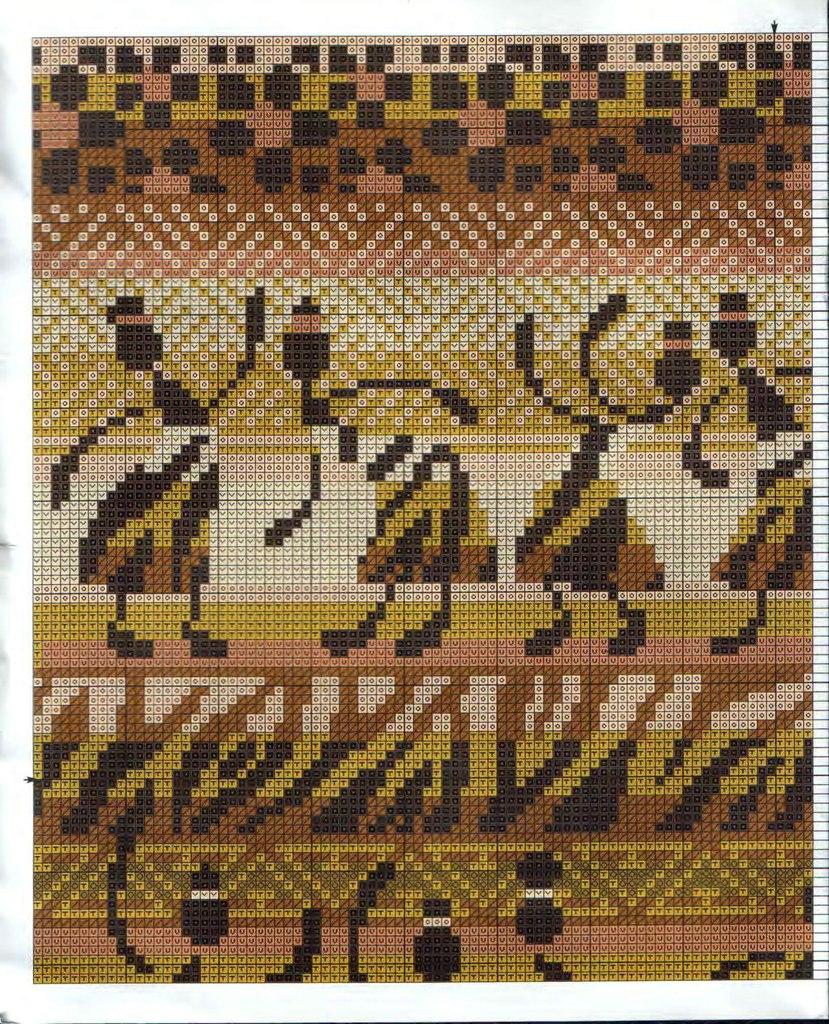 Африканские узоры схемы вязание