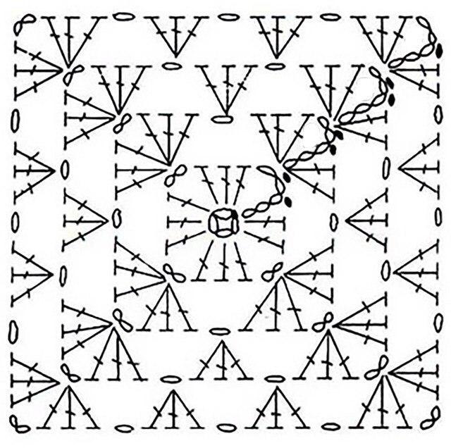 奶奶的广场花方形披肩(简单) - maomao - 我随心动