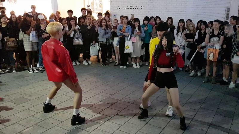 20190423 홍대 레오-유원 버스킹중 구경하던 레드크루(Red Crew) 게스트공연 - Brown Eyed Girls(브라운