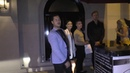 Adam Rippon, Val Chmerkovskiy and Jenna Johnson outside Craig's Restaurant in West Hollywood