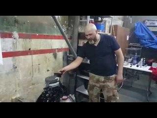 мотор Hidea 9.8 старт после ТО и настройки карбюратора