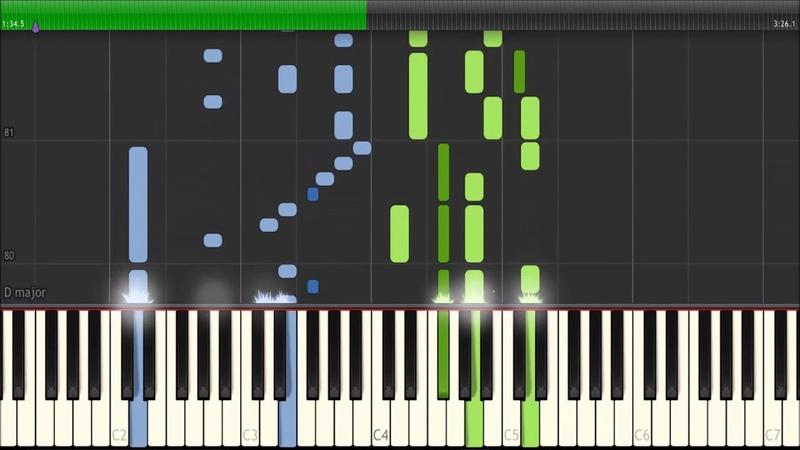Amberian Dawn - He sleeps in a grove - Dorelia Bast cover (Piano tutorial - Synthesia)