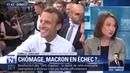 Emmanuel Macron Le chômage en hausse pour un deuxième trimestre consécutif
