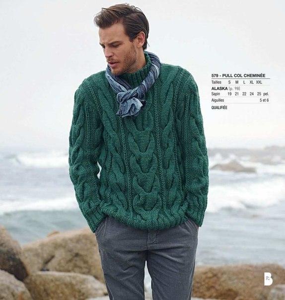 Мужской свитер#с толстыми