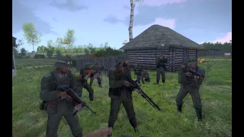 Arma 3 Red Bear Iron Front Эскадрон Часть 1 - Атака