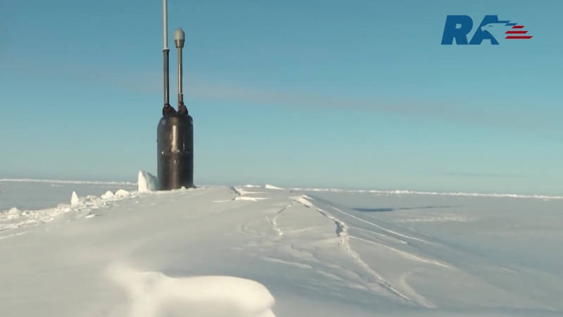 The CNN channel published a video with the American submarine Hartford which during the exercises breaks through the ice in the