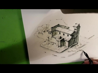 Архитектурный Скетчинг, Стрим Из Италии, Рисую Рим - San Nicola in Carcere