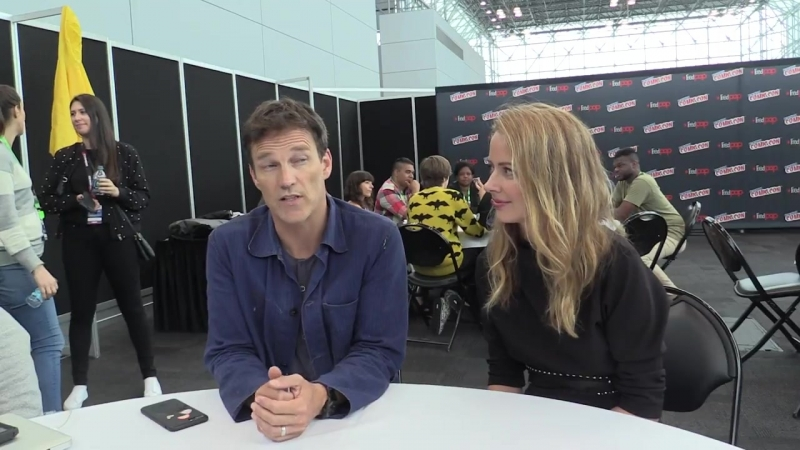 New york comic con 2k17. comic uno the gifted's × amy acker and stephen moyer interview