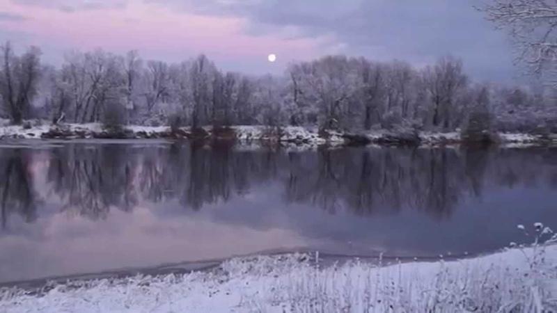 Зимний вечер, луна и Smooth Ridin.