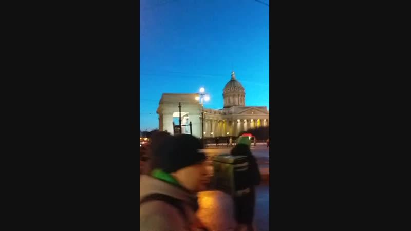 16.02.2019. Невский пр. , дом Зингера , Казанский собор .