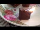 Свеча из шоколада! Вот такой сегодня ШОКОЛАД Горел 30 минут, а потом еще тлел ужасным образом, еле водой затушили!