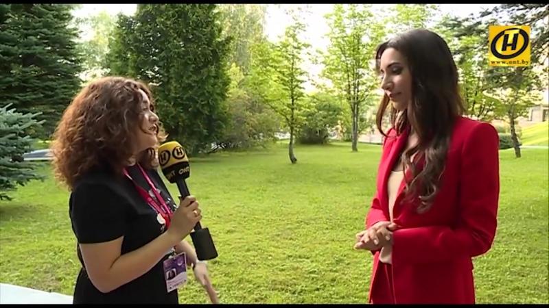 Зара в интервью для телеканала ОНТ о детском музыкальном конкурсе Витебск-2018