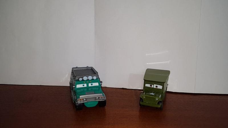 Cars TJ Hummer And Sarge Comparison/Тачки сравнение - [Несравнимые]