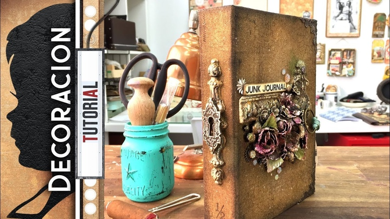 Junk Journal - Decoración con Paper Clay / Pasta ligera