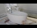 Производство ванной из целого блока известняка Adriatic Pearl Plano