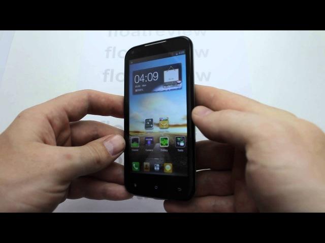 AMOI N828 краткий видео обзор китайского телефона 4.5 IPS MTK6589