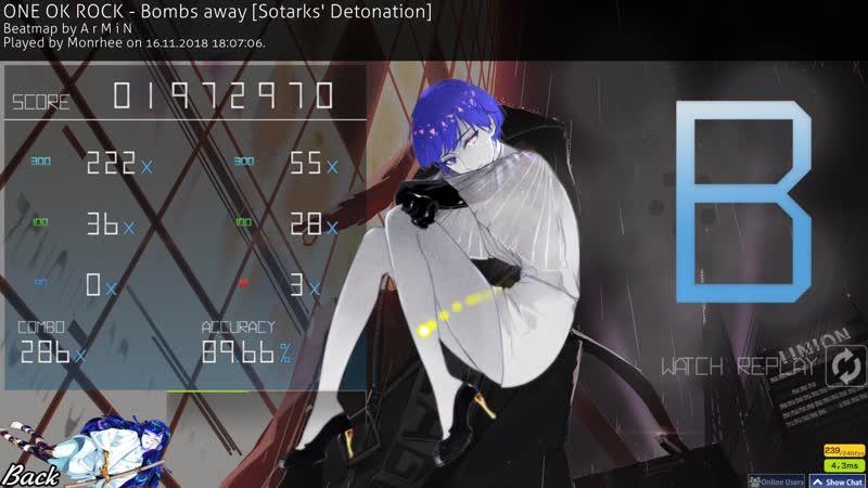 Osu! ONE OK ROCK - Bombs Away [Sotarks Detonation] 286x (106pp)