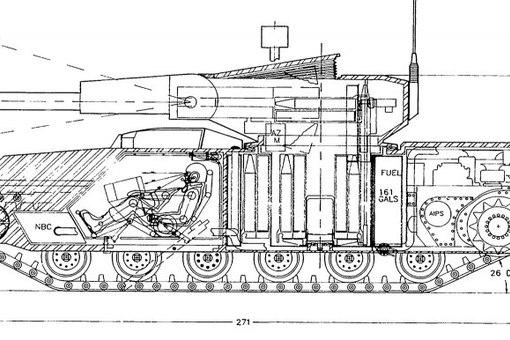 Вот схема танка т-90,