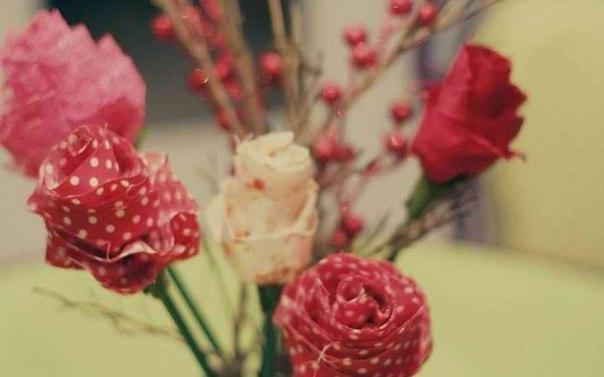 Rožės iš audinio