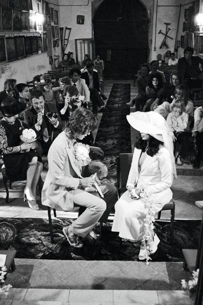 Свадебные фотографии Мика и Бьянки Джаггер. 1971 год