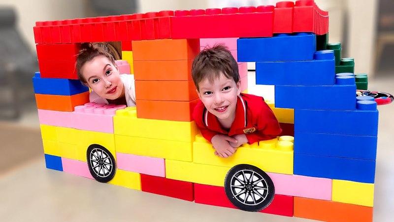 Огромная машина для Луномосика fun kid video