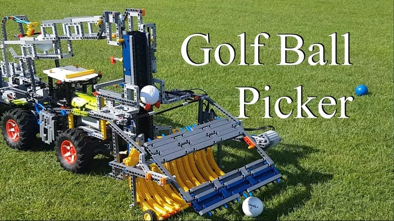 Golf Ball Picker - Lego Technic 42054 Claas Xerion 5000 Trac VC
