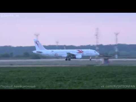 Tunisair in Krasnodar (Airbus A320-214 TS-IMP) Take off