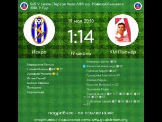 5 сезон Первая Лига 9 тур Искра - КМ Пионер 19.05.2018