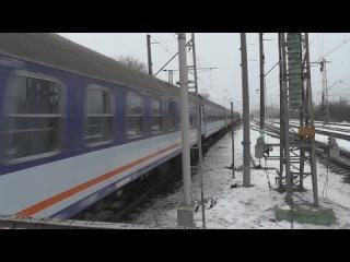 ЧС7-020 с поездом №010 Варшава — Москва