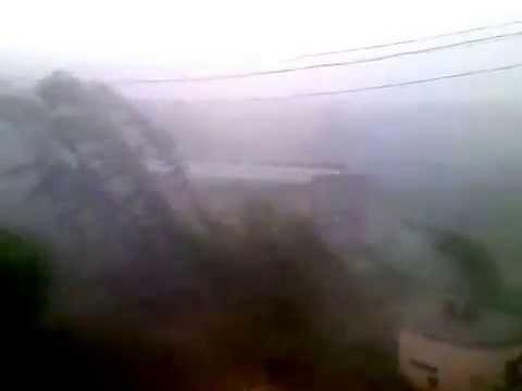 Ураган в Новосибирской обл. г. Барабинск, просто шквал!