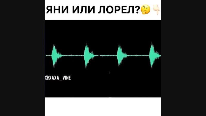Яни или Лорел🤔☺🙄