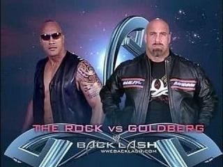 WWE Backlash 2003 - The Rock vs Goldberg