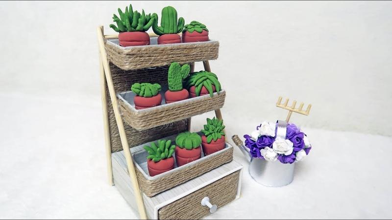 DIY Органайзер из картона для мелкой канцелярии | Стеллаж с цветами