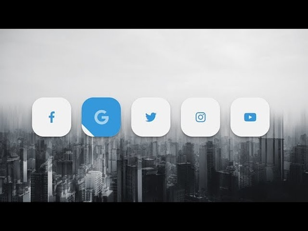 Social media buttons with amazing animation on hover using html css