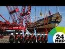 В Петербурге спустили на воду копию легендарной Полтавы МИР 24