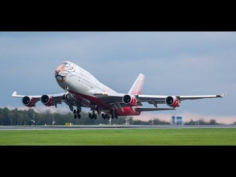 Тигролёт. Возвращение домой. Приняли душ во время посадки | URSS - UUWW | Boening 747-400 CF