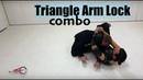 Arm lock from cross grip control triangle choke combo