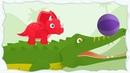 Dinosaur traveling 2 Triceratops Dinosaur cartoon for kids