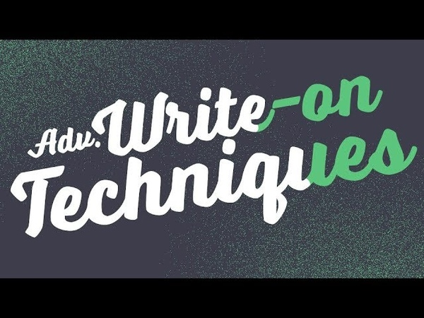 Advanced Write-on Techniques - Adobe After Effects tutorial