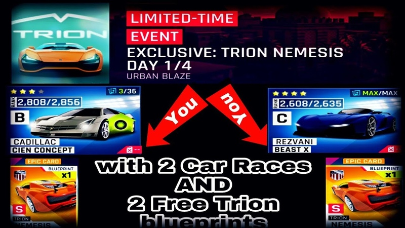 ASPHALT 9 - EXCLUSİVE 🚘TRİON - DAY 1/4 - WİTH➡️REVZANİ AND CADİLLAC