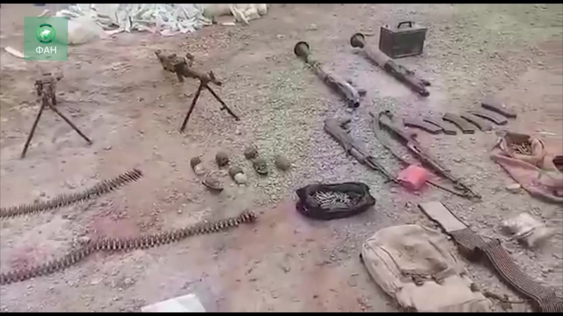 Сирия добивает ИГ на западе Дейр-эз-Зора репортер ФАН запечатлел захваченное у террористов оружие