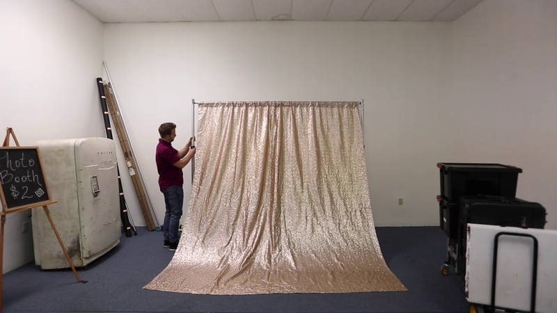 How to Setup a Sequin Photo Booth Backdrop