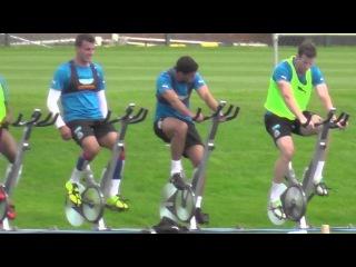 Hatem Ben Arfa Training Hard On Excercise Bike