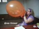 Gosy blows to pop a balloon! 17'' Tuftex :) Sexy b2p!
