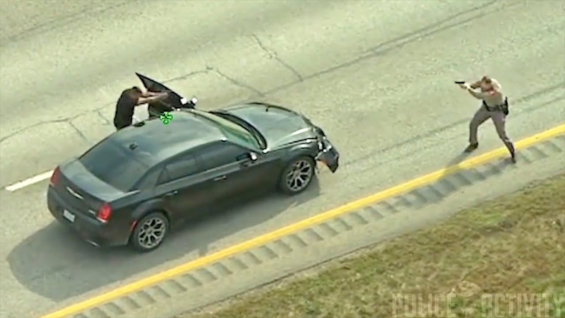 Texas Police Helicopter Video Captures Shootout on Highway