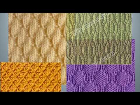 Рельефные узоры спицами - 3, со схемами. Knitting Knitted Diy