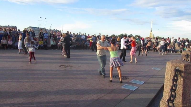 Самба Бальные танцы 05 08 2018 г на Стрелке В О вид 861