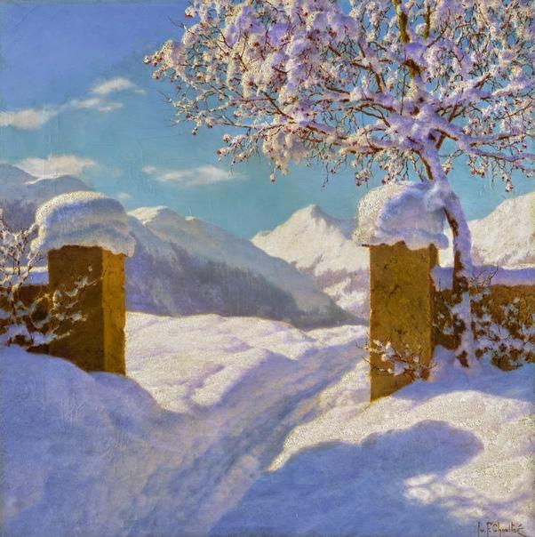 Иван Шультце и самый пушистый снег в живописи.